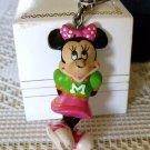 Minnie Mouse Rubber Figurine Vintage Key Chain Charm Jewelry