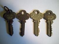 4 Vintage Keys- P&F Corbin New Britain Connecticut