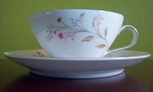 Meito China Cup and Saucer Set