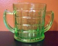Green Open Sugar Hazel Atlas Depression Glass