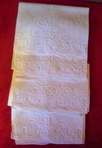 Set of 4 Italian White Tea Towels Vintage