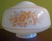 Vintage Glass Ceiling Light Shade Brown Floral