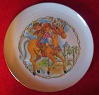 Vintage Bryan China Collector PlateKids On Horse