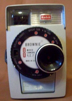 Vintage Kodak Brownie 8mm Movie Camera and Box f/2.7