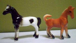 2 Vintage Miniature Horses