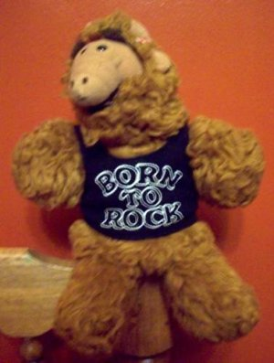 "Alf ""Born to Rock"" plush hand puppet 1980s TV Sitcom"