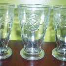 3 Vintage Jelly Jar Juice Glasses Footed