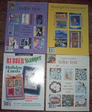 4 Back Issues of Stamping Mags Stampers' Sampler, etc.