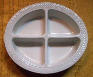 Hall China Lenox Brown 4 Part Relish Dish w/ Sticker