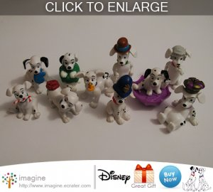 Nice Lot of 10 Disney 101 Dalmatians McDonald Dalmatian Toys Figures Christmas 1996