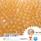 200 Gorgeous Champagne Colored Acrylic / Plastic Faceted Beads 2mm Round Facet Style Loose Bead Lot