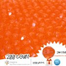 200 Gorgeous Orange #1 Colored Acrylic / Plastic Faceted Beads 2mm Round Facet Style Loose Bead Lot