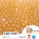 400 Gorgeous Champagne Colored Acrylic / Plastic Faceted Beads 2mm Round Facet Style Loose Bead Lot