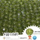 400 Forest Green Colored Acrylic / Plastic Faceted Beads 2mm Round Facet Style Loose Bead Lot