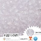 400 Gorgeous Clear Colored Acrylic / Plastic Faceted Beads 2mm Round Facet Style Loose Bead Lot