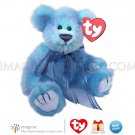 "Retired TY Attic Treasures Collection AZURE Blue Teddy Bear 8"" Plush Stuffed Animal NWT Christmas"