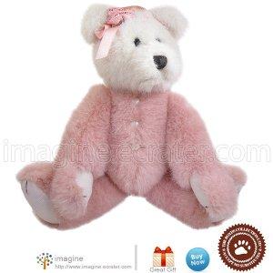 """Retired Boyds Bears GUINEVERE Pink Rose Dance Ballerina Heart Bear 12""""  Plush Boyd Archive Series"""