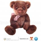 "Russ Berrie TARTUFO Rich Chocolate Brown Teddy Bear 9"" Plush Vintage Style Stuffed Animal"