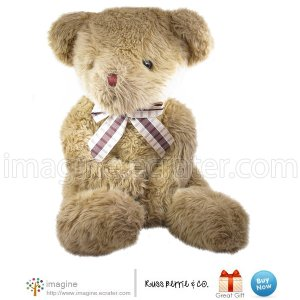 "Russ Berrie PADSWORTH Gorgeous Tan Shaggy Haired Teddy Bear 18"" Plush Vintage Style Stuffed Animal"