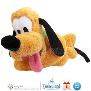 "Disneyland 10"" PLUTO Dog w/ Green Collar Authentic Disney Theme Park Plush Stuffed Animal Mickey"
