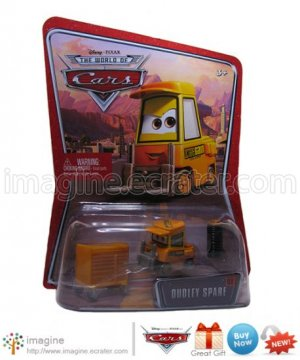Disney Pixar World of Cars Movie Toy Dudley Spare Forklift #68 Mint on Card Mattel Lot Listed