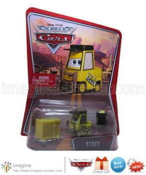 Disney Pixar World of Cars Movie Toy Stacy Forklift #25 Mint on Card Mattel Lot Listed