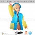 Vintage Barbie Clothes Best Buy Fashion Outfit #7424 Yellow & Blue Jacket & Bikini Top Doll Clothing