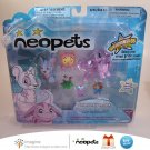 Neopets Series 1 Collector Figure Pack Faerie Poogle Striped Kougra Snorkle Petpet Jakks Pacific New