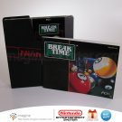 Tested & Works - Break Time The National Pool Tour - NES Game Cartridge Sleeve & Manual Nintendo