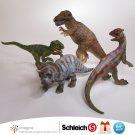 Schleich Dinosaur Lot Tyrannosaurus Triceratops Velociraptor Dilophosaurus Figures 2002 2003 Germany