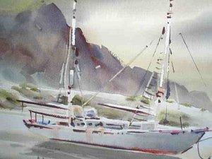 Seascape by Robert Landry listed California Artist NR