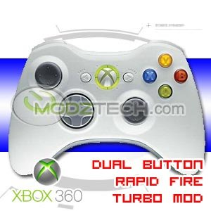 XBOX 360 Dual Rapid Fire Turbo Modded Wireless Controller
