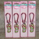 Personalized keyring MADISON key chain Flip Flop clip