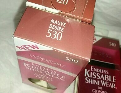 Loreal Endless Kissable ShineWear lipstick 530 Mauve Desire Glossy lip kit
