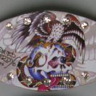 Ed Hardy Leather Bracelet (Skull & Eagle)