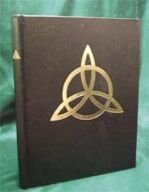 Blank Black Book of Shadows Triquetra NEW Witchcraft Large