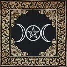 Triple Goddess With Pentagram Altar or Tarot Cloth NEW
