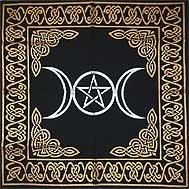 Triple Goddess With Pentagram Altar or Tarot Cloth NEW