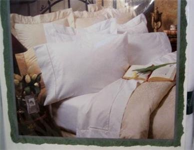 Waterford Bed Linens 2 white standard pillowcases $88