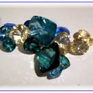 Loose topaz gemstones in blue green champagne CALIBRATED $2 per carat