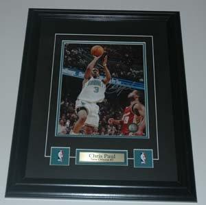 Chris Paul New Orleans Hornets Signed Framed