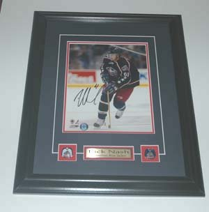 Rick Nash Columbus Bluejackets Auto Framed