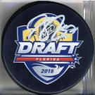 Connor McDavid Edmonton Oilers Auto Draft Puck