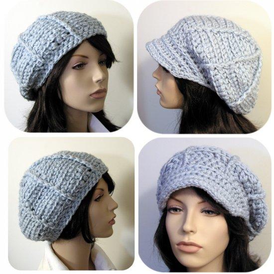 The Ava Hat Beret/Applejack 2 styles in 1- crochet ePattern