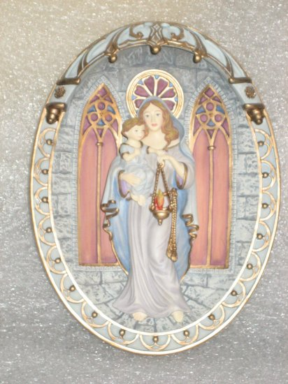 Collector Plate Mary Light of Heaven Gracious Mother of Wisdom 1995