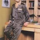 MB320023  Luxurious 100% Men's Silk  Pajamas with Lounge Pants set Cearance Sale
