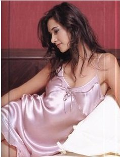 MB245004  Dusty Pink Pure 100% Luxury Silk Night Dress Chemise Slip Gown Clearance Sale
