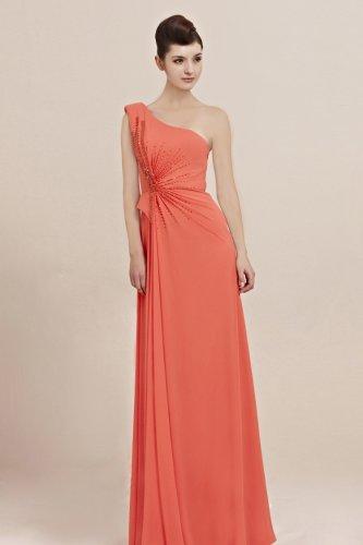 Orange Grecian Prom Formal Evening Gown CX830050