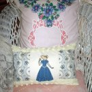 Decorative Handcrafted Cottage Style Pillow, vintage linens