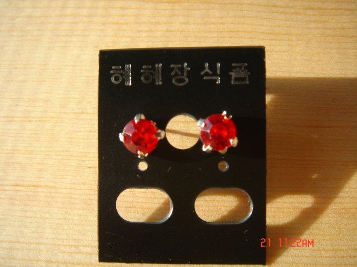 Fashion Korean Colorstone Studs Earrings ON SALE 2009**FREE SHIP